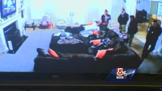 Video shows search of Aaron Hernandez home