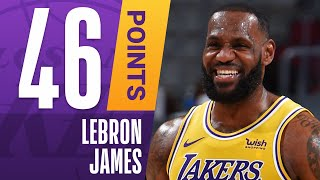 👑 SEASON-HIGH 46 PTS, 7 3PM For LeBron James Against Cleveland!