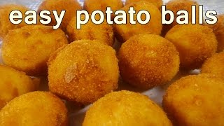 FRIED POTATO BALLS - Tasty and Easy Food Recipes For Dinner to make at home - Cooking videos