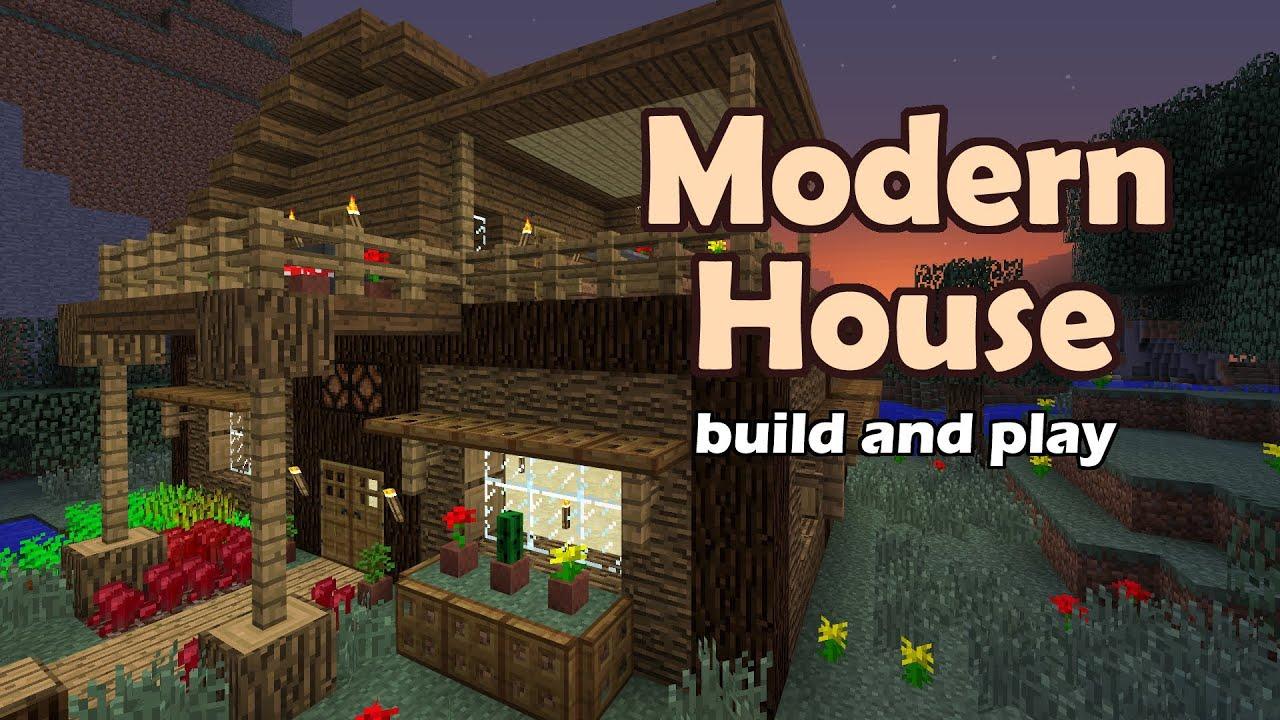 Minecraft: Modern House Tutorial - YouTube