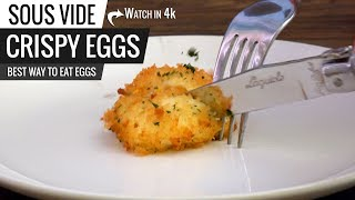 Sous Vide CRISPY EGGS Perfection! Best SOUS VIDE EGG Guaranteed