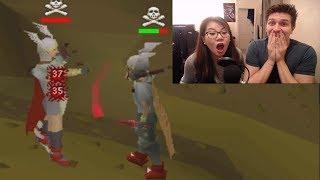 My Girlfriend tries PKing on Runescape