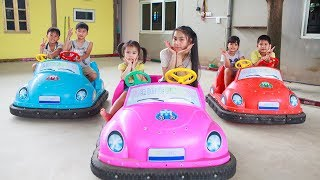 Kids Go To School | Chuns With Best Friends Play In Game Park The Children's City Toys - YouTube