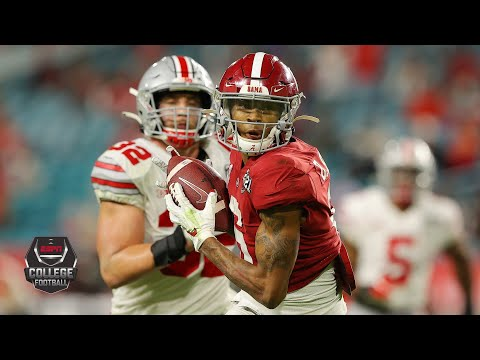 DeVonta Smith's National Championship Game highlights: 215 yards, 3 TDs — all in first half | ESPN
