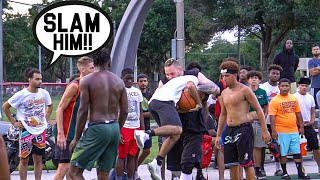 They Were Talking SH** & Wanted To FIGHT! 5v5 Basketball At The Park