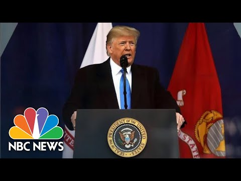 President Donald Trump Becomes First Sitting President To Attend NYC Veterans Day Parade   NBC News