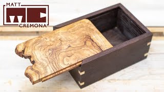 Sliding Burl Lid Box