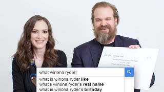 Stranger Things' Winona Ryder & David Harbour Answer the Web's Most Searched Questions | WIRED