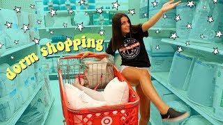 college dorm room shopping vlog
