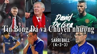Tin bóng đá | Chuyển nhượng | 20/02/2019 | De Gea chưa gia hạn với MU, Sarri-Ball thất bại ở Chelsea