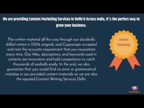 Content Writing Services India | Content Marketing Services Delhi