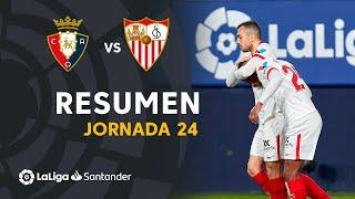 Resumen de CA Osasuna vs Sevilla FC (0-2)