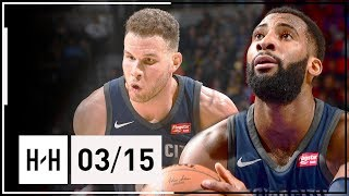 Blake Griffin & Andre Drummond Full Highlights Pistons vs Nuggets (2018.03.15) - 47 Pts Combined