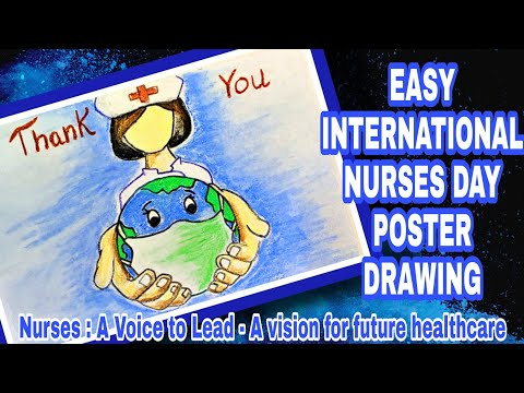 INTERNATIONAL NURSES DAY 2021 | NURSES DAY DRAWING | NURSES DAY POSTER | NURSES DAY 2021
