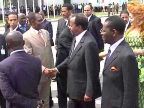 ARRIVE A MALABO DE PAUL ET CHANTAL BIYA