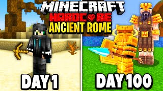 I Survived 100 Days in Ancient Rome on Minecraft.. Here's What Happened..