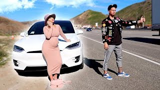OUR NEW TESLA BROKE DOWN ON THE FREEWAY!!! **SMH**