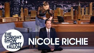 Nicole Richie Braids Jimmy's Hair Mid-Interview While They Chat About Great News