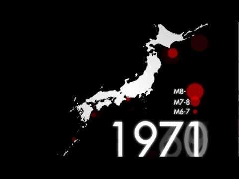 日本で起きた地震の1300年分を遡ると... Japanese historical earthquakes(A.D.672-2012)
