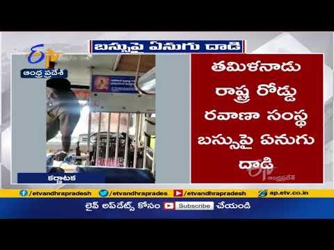 Watch: Elephant attacks bus with full of passengers on Kotagiri-Mettupalayam highway