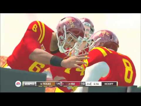 (Texas Longhorns vs Iowa State Cyclones) PS3 (NCAA Football 20 2019 2020 Season) 11 16 2019