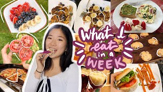 WHAT I EAT IN A WEEK as college + high school students living alone (healthy + realistic)