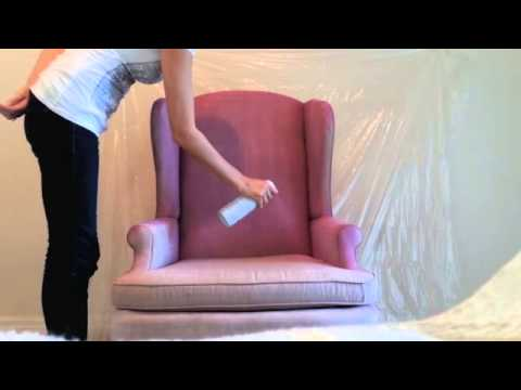 Diy How To Spray Paint Fabric On Furniture Youtube