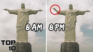 Top 10 Scary Sculptures Caught Moving