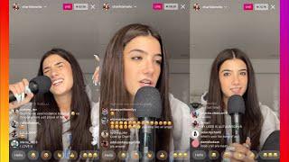 Charli D'Amelio Singing & Karaoke Instagram Live!