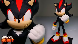 SHADOW SCULPTURE! (from Sonic) ➤ Polymer Clay Tutorial Giovy Hobby