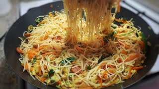 চাইনিজ ভেজিটেবল নুডুলস | Chinese vegetable noodles | Street food recipe