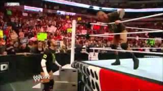 Randy Orton punt kicks each of the members of the New Nexus Tribute