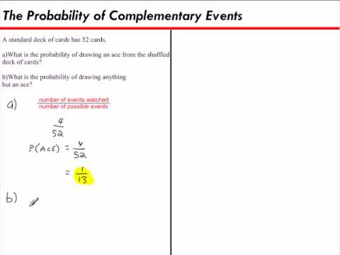 Identify Overlapping Disjoint And Complementary Events Ck 12