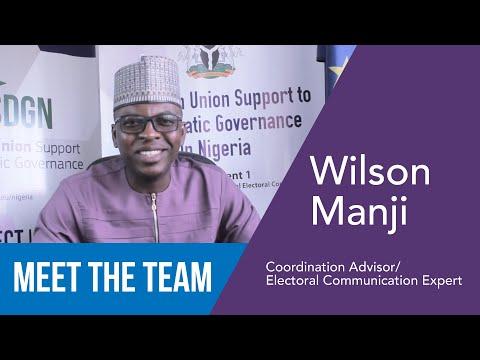 Wilson Manji - Coordination Advisor/Electoral Communication Expert