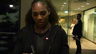 'Serena Williams exclusive video following Australian Open 2017 victory'