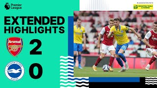 Extended PL Highlights: Arsenal 2 Albion 0