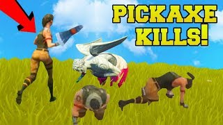 I KILLED AN ENTIRE TEAM WITH A PICKAXE!!! - Fortnite Battle Royale