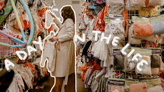 Thrifting Baby Clothes!!! + Thrift Haul // Day in the Life of a Mom 6 Months Pregnant