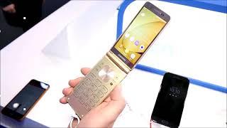 نظرة سريعة على هاتف سامسونج Samsung W2018 بشاشتين القابل ...