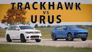Jeep Trackhawk vs Lamborghini Urus | Drag Race Comparison