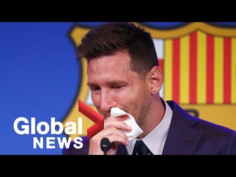 Messi bids tearful goodbye to Barcelona after 21 years