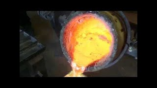 Making Brass from Scrap Copper and Zinc at our Foundry