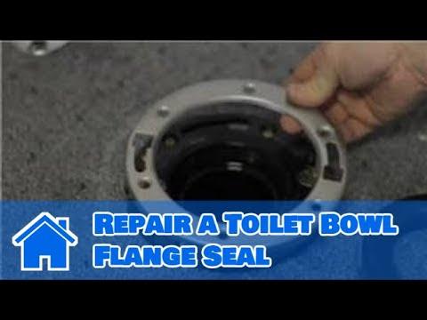 Toilet Repair How To Repair A Toilet Bowl Flange Seal