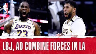 LeBron & AD Combine For 58 PTS In Battle Of LA!