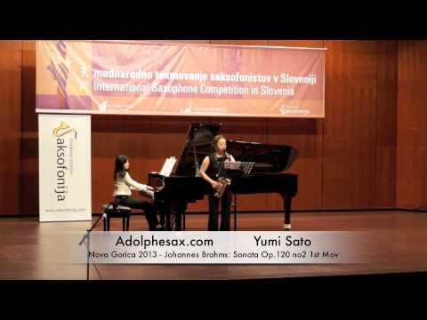 Yumi Sato - Nova Gorica 2013 - Johannes Brahms: Sonata Op 120 no2 1st Mov