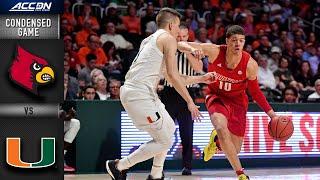Miami vs. Louisville Condensed Game | ACC Basketball 2019-20