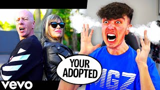 REACTING to my MOM'S DISS TRACK on ME! (Morgz Sucks)