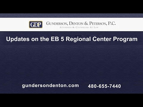 Updates on the EB 5 Regional Center Program | Mark Egan