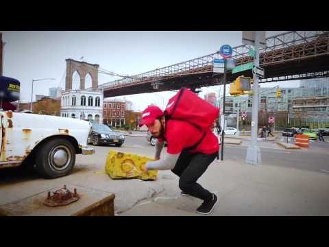 Grubhub's Delivery X: Delivery Without Limits athletes defy gravity to make deliveries.