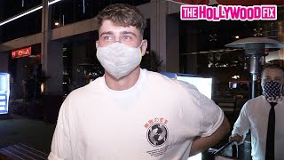 Harry Jowsey Gushes Over His New Girlfriend & Speaks On Larsa Pippen While Leaving BOA Steakhouse